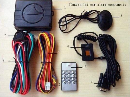 Wireless Fingerprint Car Alarm System