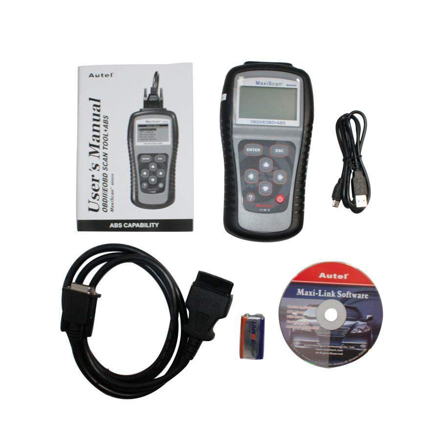 MaxiScan MS609 OBDII/EOBD Scan Tool diagnosis for ABS Codes