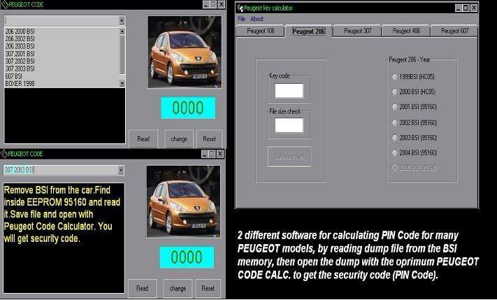 Peugeot Code + Peugeot Key Calculator