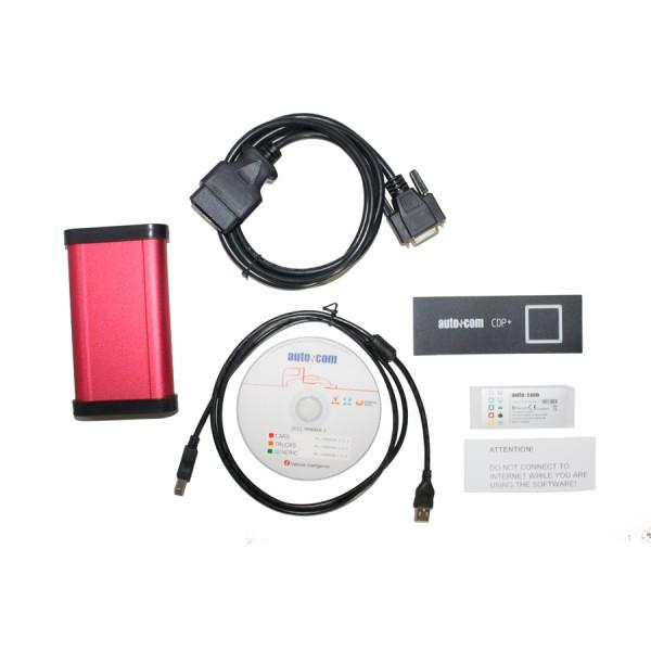 AUTOCOM CDP Plus for Cars & Trucks & Generic 3 in 1 Red